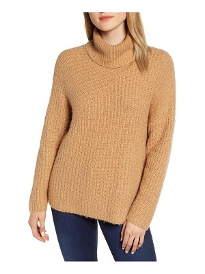 Chelsea28 cozy chunky turtleneck sweater