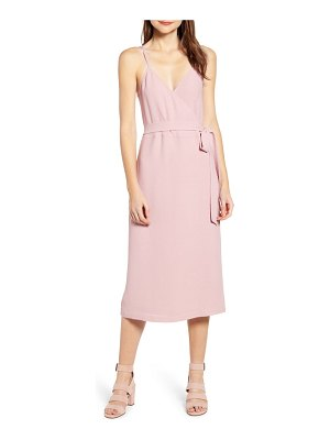 Chelsea28 crepe wrap midi dress