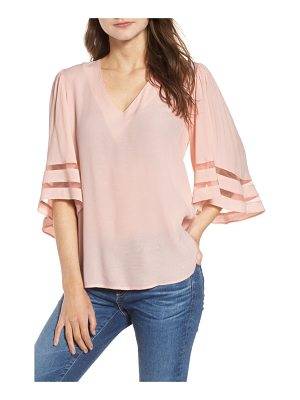 Chelsea28 illusion sleeve top