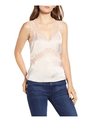 Chelsea28 lace trim camisole top
