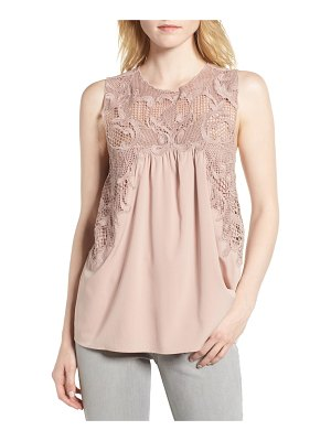 Chelsea28 lace yoke top