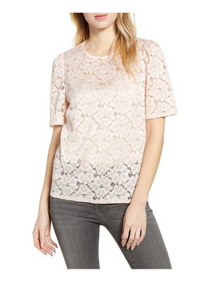 Chelsea28 puff sleeve lace top