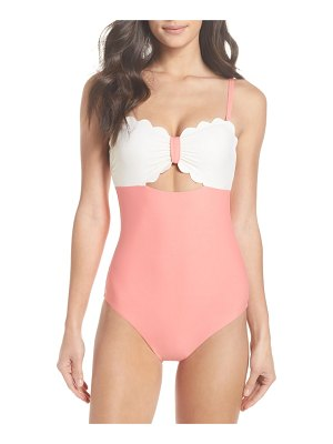 Chelsea28 scallop bandeau one-piece swimsuit