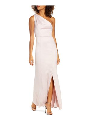 Chi Chi London alyssa one-shoulder satin trumpet gown