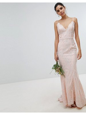 Chi Chi London bridal premium lace maxi dress with fishtail