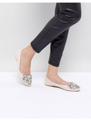 Chi Chi London embellished ballerina flat