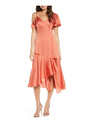 Chi Chi London emmett asymmetrical satin cocktail dress