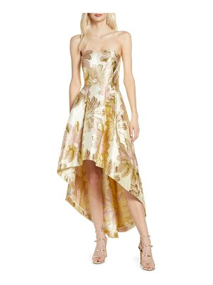 Chi Chi London grace strapless high/low brocade party dress