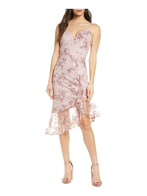 Chi Chi London lilliana embroidered mesh cocktail dress