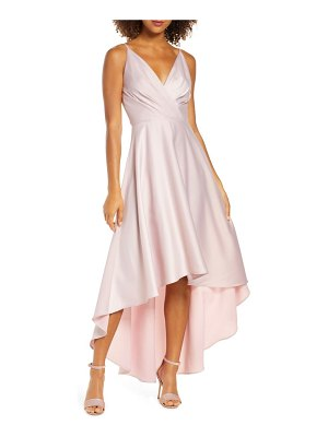 Chi Chi London lucia surplice high/low satin gown