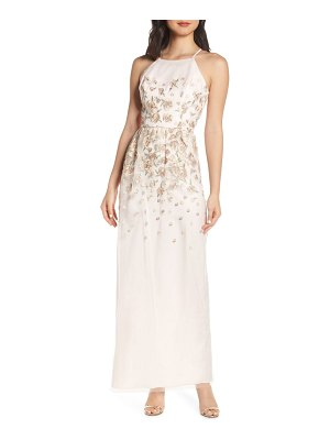Chi Chi London madelyn embroidered mesh column gown