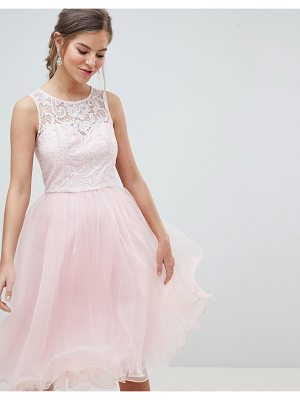 Chi Chi London midi tulle prom dress with premium lace bodice