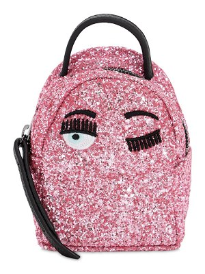 Chiara Ferragni Extra mini glittered backpack