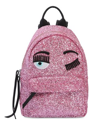Chiara Ferragni Eye embroidery glitter mini backpack