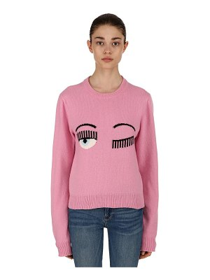 Chiara Ferragni Eye intarsia wool blend crewneck sweater
