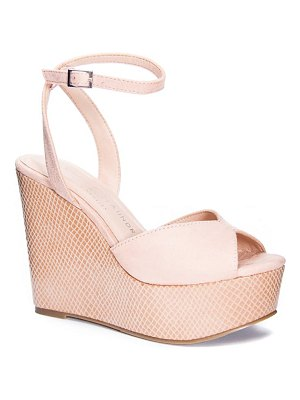 Chinese Laundry ellia ankle strap platform wedge sandal