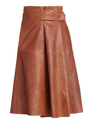 Chloe a-line leather midi skirt