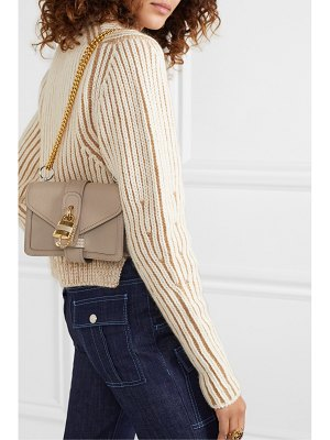 Chloe aby chain mini textured and smooth leather shoulder bag