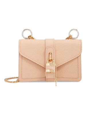 Chloe aby chain reptile embossed calfskin leather shoulder bag