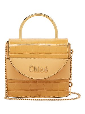 Chloe aby lock crocodile-effect leather cross-body bag