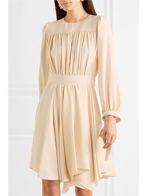 Chloe asymmetric gathered cady dress