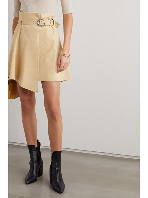 Chloe asymmetric suede mini skirt
