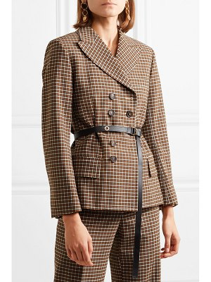 Chloe belted double-breasted checked woven blazer