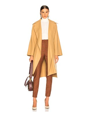 Chloe Belted Double Face Wool Coat