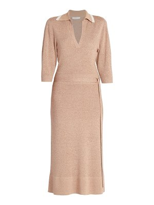 Chloe belted tweed sheath dress