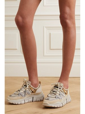 Chloe blake suede, leather and mesh sneakers