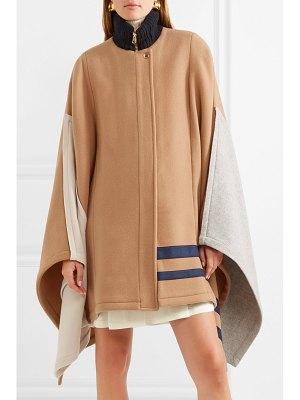 Chloe color-block wool-blend cape