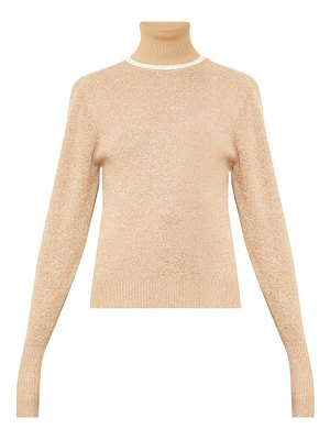 Chloe contrasting wool-blend roll-neck sweater