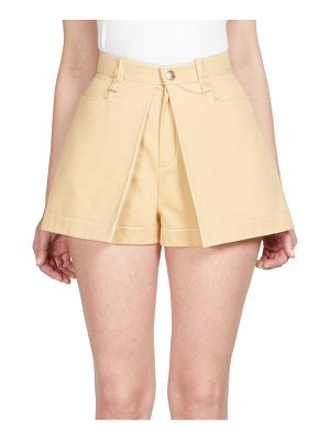 Chloe cotton pleat-front shorts