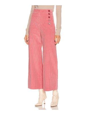 Chloe crop button pant