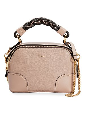 Chloe Daria Mini Dual Zip Chain Satchel Bag