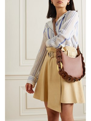 Chloe darryl small braided smooth and textured-leather shoulder bag