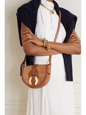 Chloe darryl small leather and suede shoulder bag