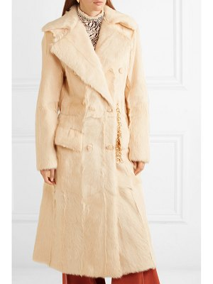 Chloe double-breasted shearling coat