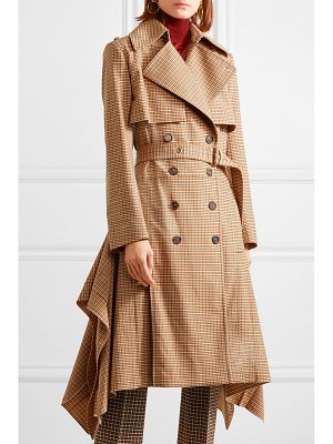 Chloe draped checked woven trench coat