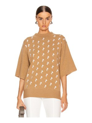 Chloe embroidered horse sweater