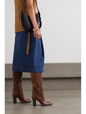 Chloe emma suede and leather knee boots