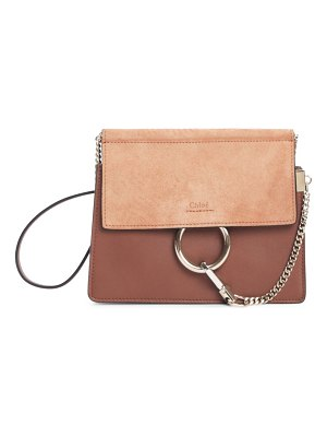 Chloe faye leather & suede shoulder bag