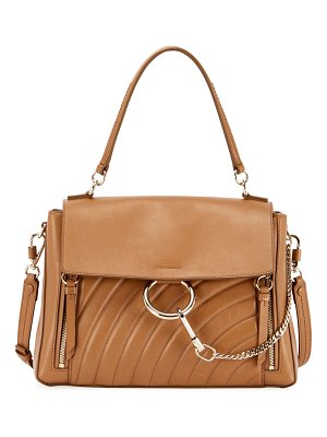 Chloe Faye Medium Quilted Leather Shoulder Bag