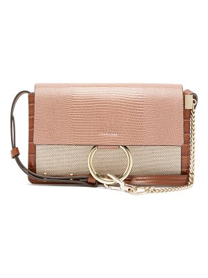 Chloe faye small lizard-embossed leather shoulder bag