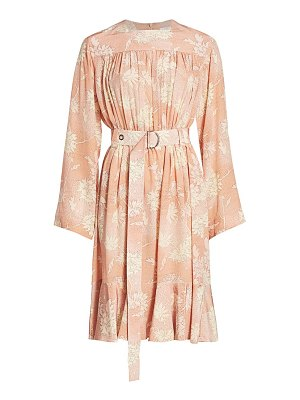 Chloe floral silk belted midi dress
