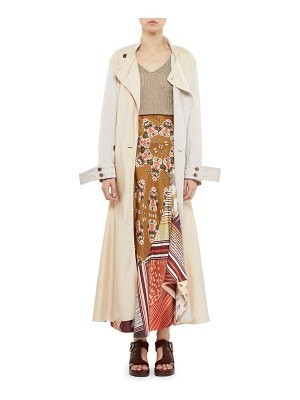 Chloe Fluid Twill Ankle-Length Trench Coat
