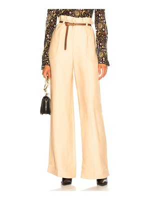 Chloe Fluid Viscose Wide Leg Trousers
