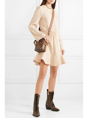 Chloe gathered crepe de chine dress