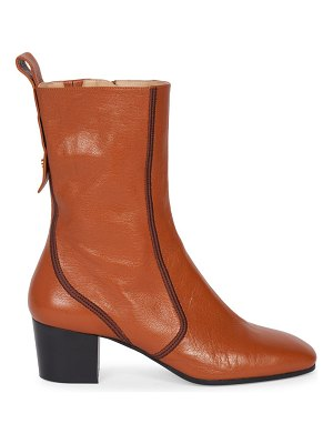 Chloe goldee leather ankle boots