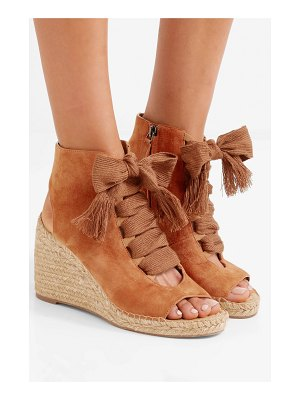Chloe harper lace-up suede espadrille wedge sandals